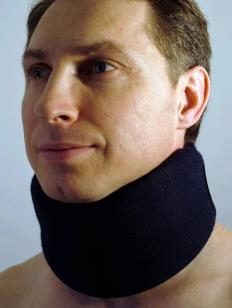 A cervical collar may be used to help keep the neck still.