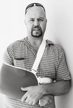 A sling may be helpful in treating a bruised shoulder.