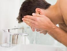 Washing the face regularly may help prevent infection of the eyes.