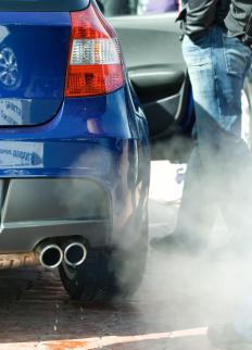 An exhaust manifold pushes toxic gases out of the engine of a car or truck and eventually through the exhaust pipes.