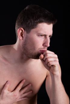 Individuals suffering from histoplasmosis may experience coughing and chest pain.