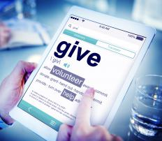 Non-profit organizations such as charities and religious organizations often rely on pledges and open donations as main sources of this type of inflow.