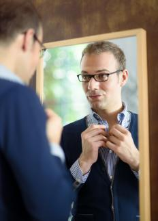 It's common for a person to have a bedroom mirror to check their appearance before they go out somewhere.