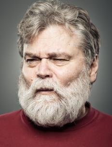 Facial hair turns gray earlier than the rest of a man's hair.
