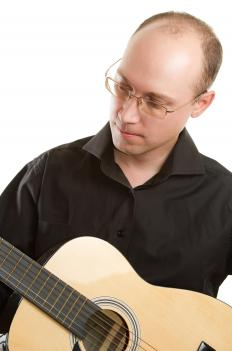 Guitars are a common bluegrass instrument.