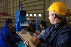 Production supervisors work closely with manufacturing employees and solve production problems.