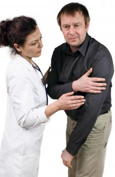 Right arm pain is typically not indicative of a heart attack the way left arm pain is.