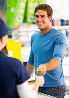 The responsibilities of sales clerks often include running a cash register and helping shoppers locate items.