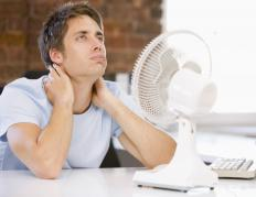 An oscillating fan may have settings that allow it to remain stationary or, alternately, to oscillate.