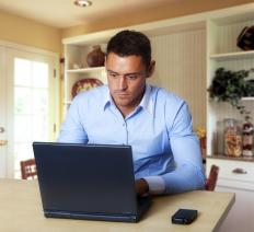 Some people continue their education by taking online classes at home.