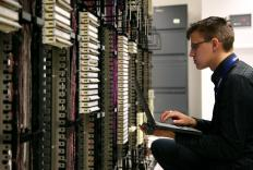 Network specialists can be called upon to work on a company's servers.