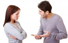 An abusive partner yelling at his spouse.