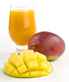 A mango shake gets both its name and its flavor from the mango fruit.
