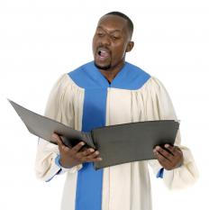 A music director may act as a conductor for a church's choir.