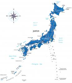 In the myth, the healthy offspring of Izanagi and Izanami became the islands of Japan.