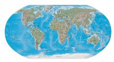 A Mercator map translates the globe onto a flat map.