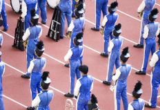 Marching bands can showcase their skills in marching band competitions.