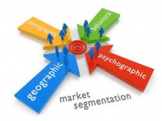 Segmenting customers breaks them up into different groups.