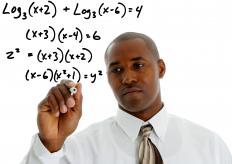 Expanding logarithms enable equations to be solved.