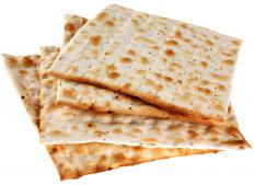 Matzo meal is made from ground matzo bread.