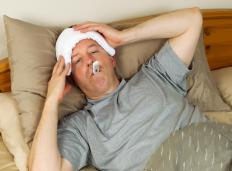 A fever may accompany a staph nasal infection.