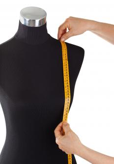Tailor-made clothing is customized to fit a person's precise body measurments.