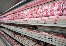 Meat department at a grocery store.
