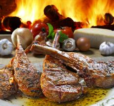 A skilled butcher can cut lamb sirloin into lamb chops.