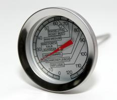 A regular meat thermometer will work with barbeque meat, but special barbeque thermometers are available.