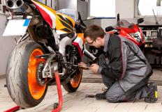 Motorcycle mechanic certification is one option for someone who wants to work in vehicle maintenance.