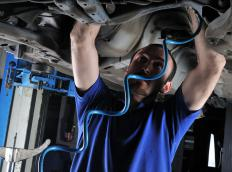 A mechanic can determine if a seal can be repaired or the axle needs to be replaced.