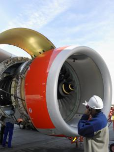 Installing aircraft engines may be the job of a structural mechanic.