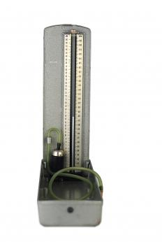 A medical manometer may be used to gauge blood pressure.