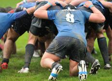 Rugby players often suffer concussions.
