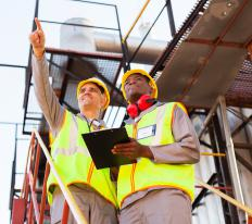 A site foreman typically manages employees.