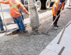In general, single poured concrete sidewalk takes much less time to cure than a dam.
