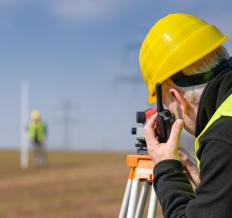 Topographic surveyors might use traditional measuring devices to do their work.