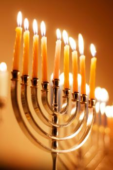 Menorahs are candelabras used during Hanukkah.