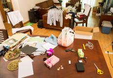 Identifying what items are essential for daily living is one of the first steps of uncluttering a home.
