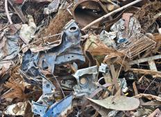 Scrap metal is often collected from demolition sites and recycled.