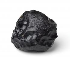 Meteorites have a black to rusty brown colored fusion crust.