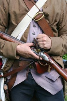 The musket was a relatively flawed firearm by today's standards.
