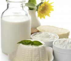 There is a small amount of lactose in cottage cheese because it is made from fermented milk.