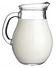 Milk, one of the ingredients in ice milk.