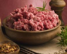 Minced meat is a traditional ingredient in rissoles.