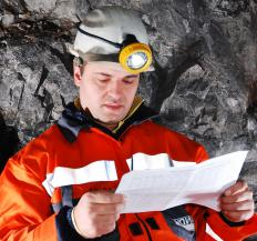 Safety engineers may be employed by a mining company.