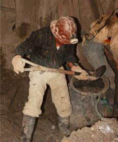Safety goggles are often worn by miners during mineral extraction.