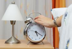 A two-bell alarm clock must be taken to a clock repair expert for restoration.