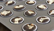 Nutella cupcakes are often made by swirling Nutella into batter to create a marbled look.