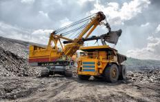 A haul truck is used to carry heavy rocks at construction and mining sites.